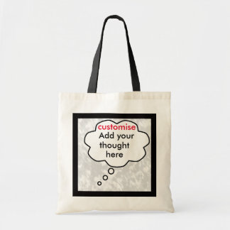 Thought bubble to customise budget tote bag