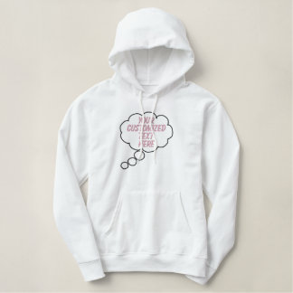 Thought Bubble Women Embroidered Hoodie Template