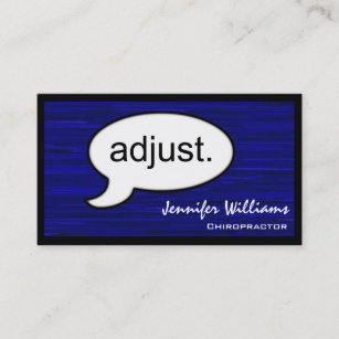 Chiropractor business cards zazzle thought cloud adjust chiropractor business card colourmoves