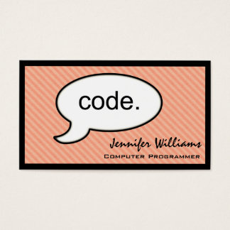 Thought Cloud Code Programmer Business Card