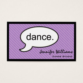 Thought Cloud Dance Dancer Business Card