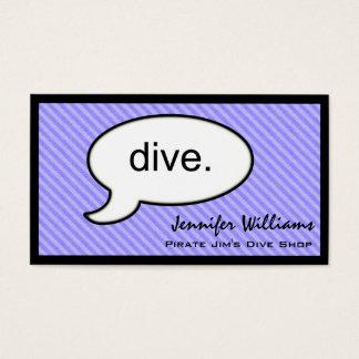 Thought Cloud Dive Shop Business Card