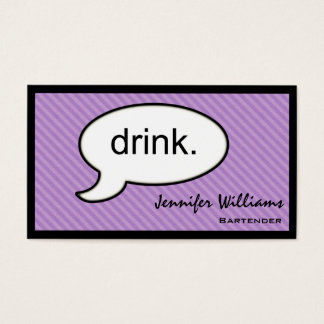 Thought Cloud Drink Bartender Business Card