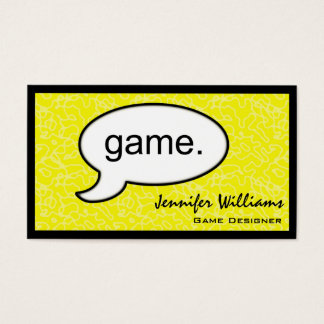 Thought Cloud Game Gamer Business Card