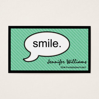 Thought Cloud Orthodontist Dentist Business Card