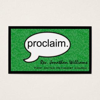 Thought Cloud Proclaim Preacher Business Card