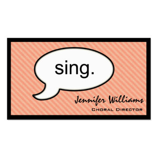 Thought Cloud Sing Choir Singer Business Card