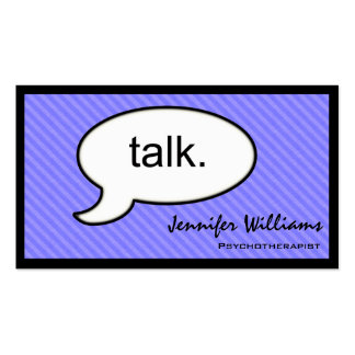 Thought Cloud Talk Psychotherapist Business Card
