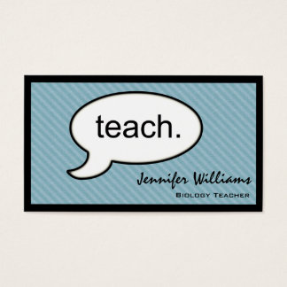 Thought Cloud Teach Professional Business Card