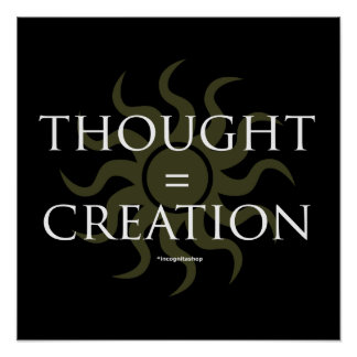 Thought Creation Poster