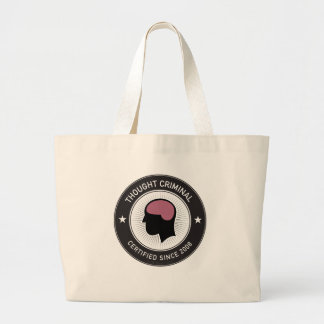Thought Criminal Large Tote Bag