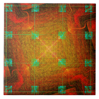 Thought Forms - Future Circuit by Joseph Maas Ceramic Tiles