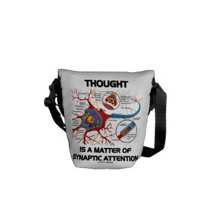 Thought Is A Matter Of Synaptic Attention (Neuron) Courier Bag