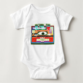 Thought of our inter-connectedness Oneness Baby Bodysuit