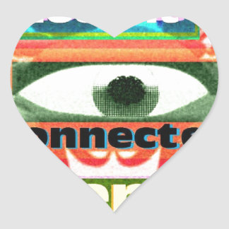 Thought of our inter-connectedness Oneness Heart Sticker