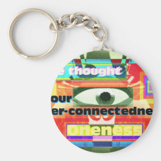 Thought of our inter-connectedness Oneness Keychain