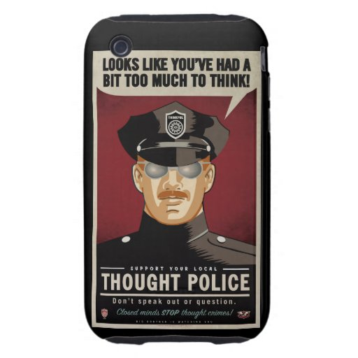 Thought Police iPhone 4S Case-Mate Tough Case Tough iPhone 3 Cases