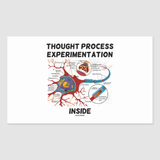 Thought Process Experimentation Inside (Neuron) Rectangular Sticker