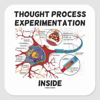 Thought Process Experimentation Inside (Neuron) Square Sticker