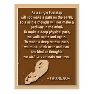 Thought provoking quote by Thoreau Postcard