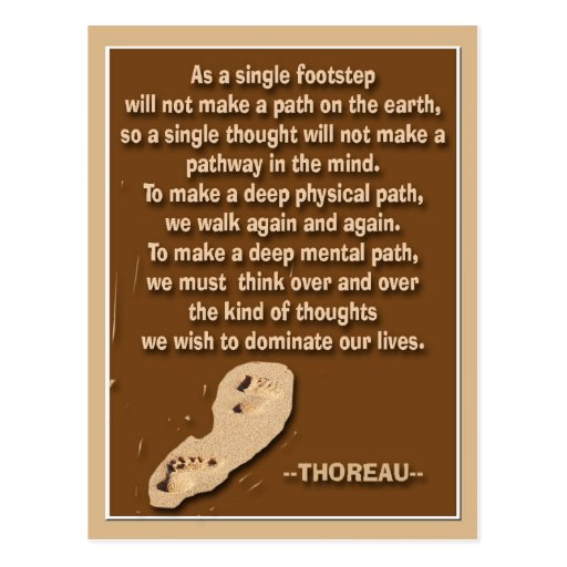 Thought provoking quote by Thoreau Post Cards