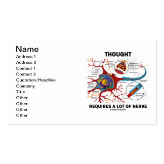 Thought Requires A Lot Of Nerve (Neuron / Synapse) Business Cards