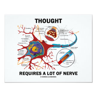 Thought Requires A Lot Of Nerve (Synapse) 4.25x5.5 Paper Invitation Card