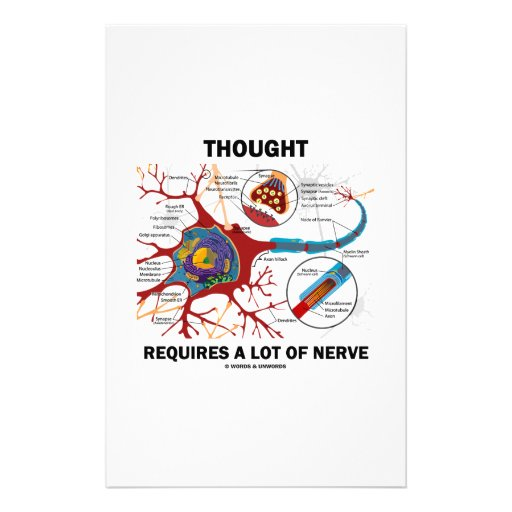 Thought Requires A Lot Of Nerve (Synapse) Stationery