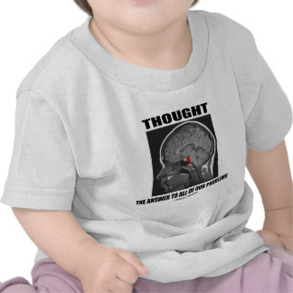 Thought The Answer To All Of Our Problems (Brain) Tee Shirts