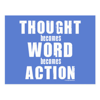 Thought Word Action Postcard