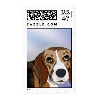 Thoughtful Beagle Postage