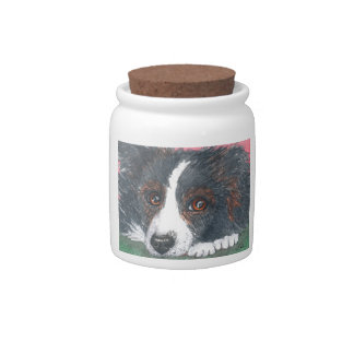 Thoughtful Border Collie Dog Candy Dishes