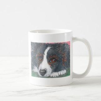 Thoughtful Border Collie Dog Basic White Mug