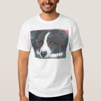Thoughtful Border Collie Dog Tee Shirt