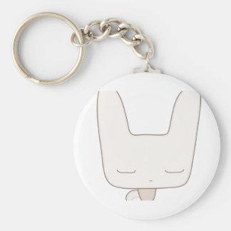 thoughtful bunny basic round button keychain
