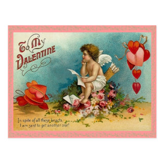 Thoughtful Cupid Valentine Postcard