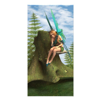 Thoughtful Fairy Photo Greeting Card