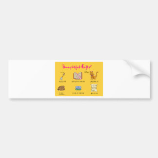 Thoughtful Gifts Funny Cartoon Christmas Card Bumper Sticker