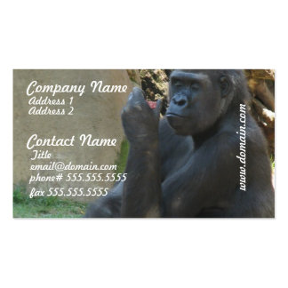 Thoughtful Gorilla Business Cards