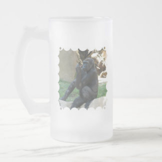 Thoughtful Gorilla Frosted Beer Mug