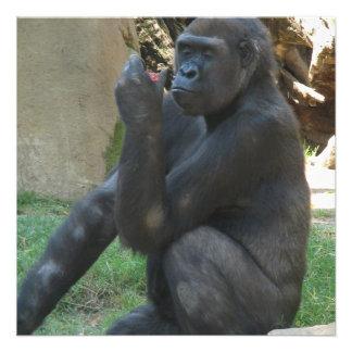 Thoughtful Gorilla Invitations