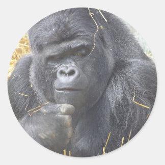 Thoughtful Gorilla Sticker