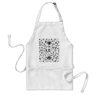 Thoughtful Lines III - Black & White Art Adult Apron