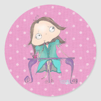 """""""Thoughtful Me"""" - Pink & Teal Polka Dot Stickers"""