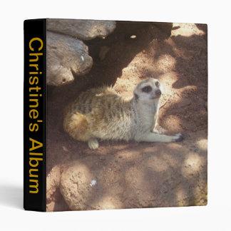 Thoughtful Meerkat 3 Ring Binder