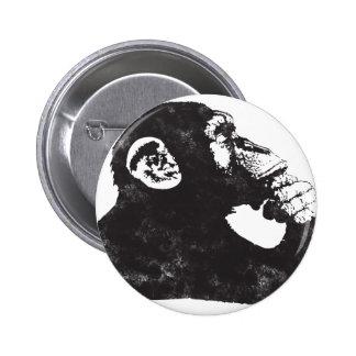 Thoughtful Monkey 2 Inch Round Button