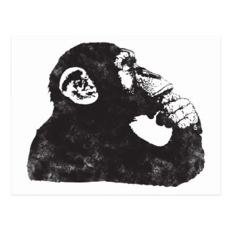 Thoughtful Monkey Postcard