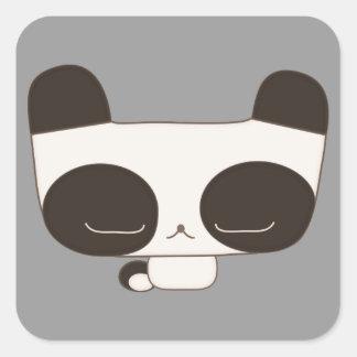 thoughtful panda square sticker