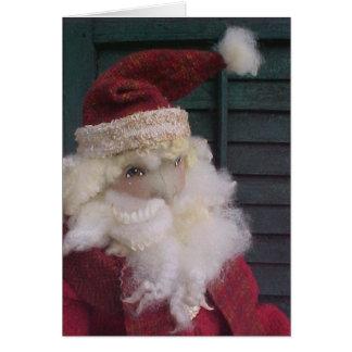 Thoughtful Santa Doll Card