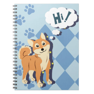 Thoughtful Shiba Inu Notebook